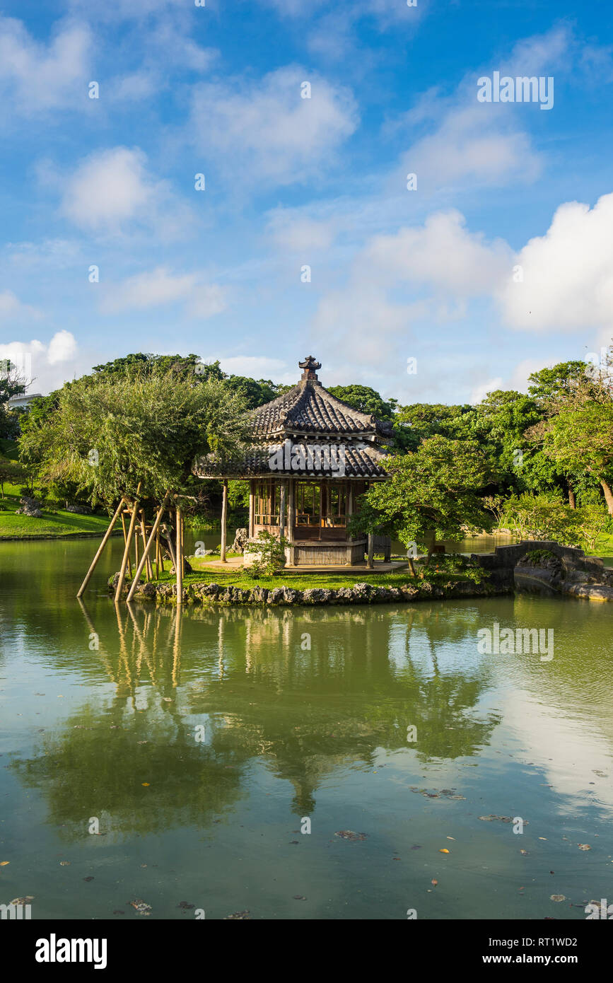 Japan, Okinawa, Shikina-en Garden Stock Photo
