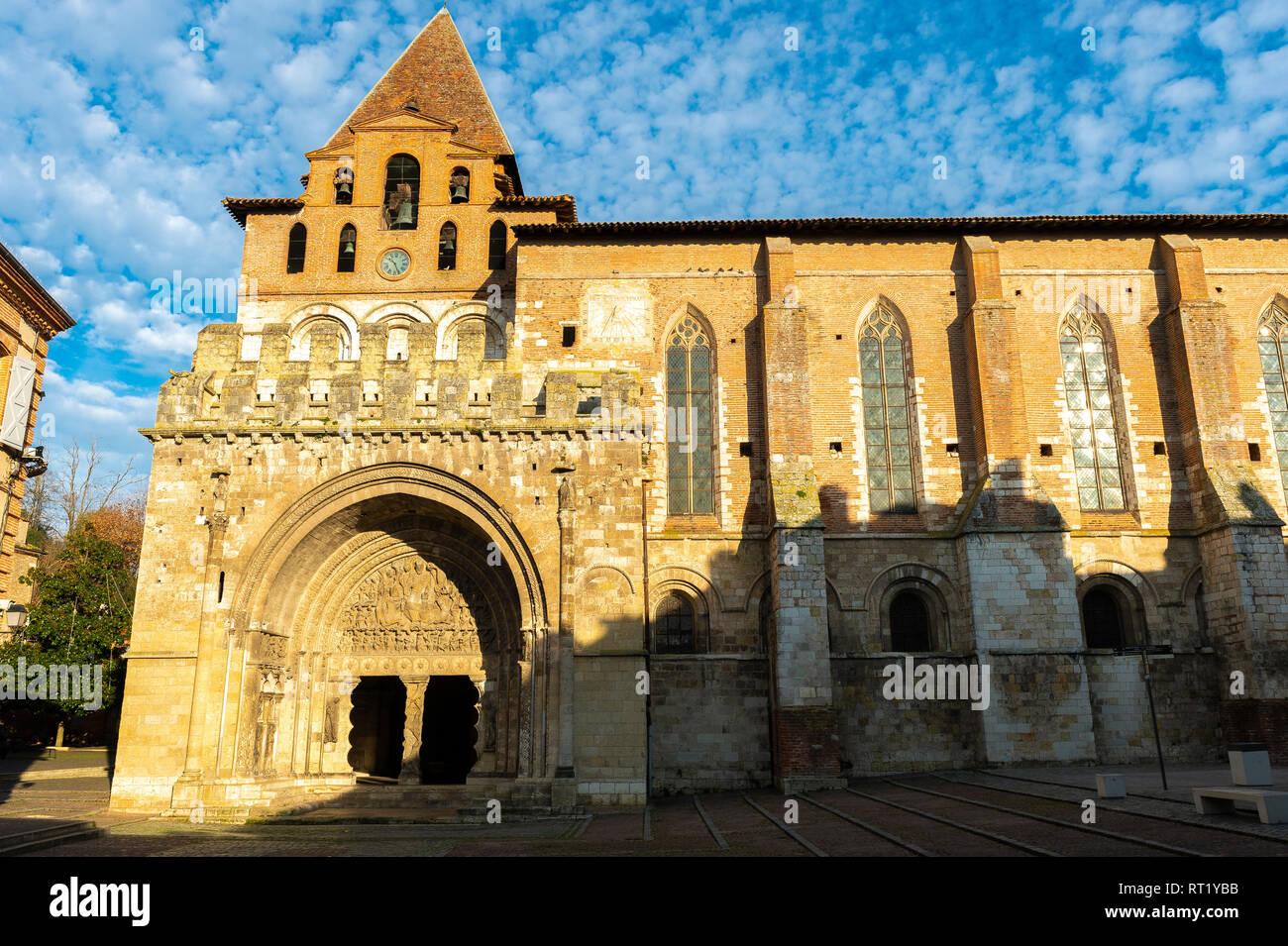 Abbaye saint pierre, Moissac Tarn et Garonne Occitanie France 82 Stock Photo