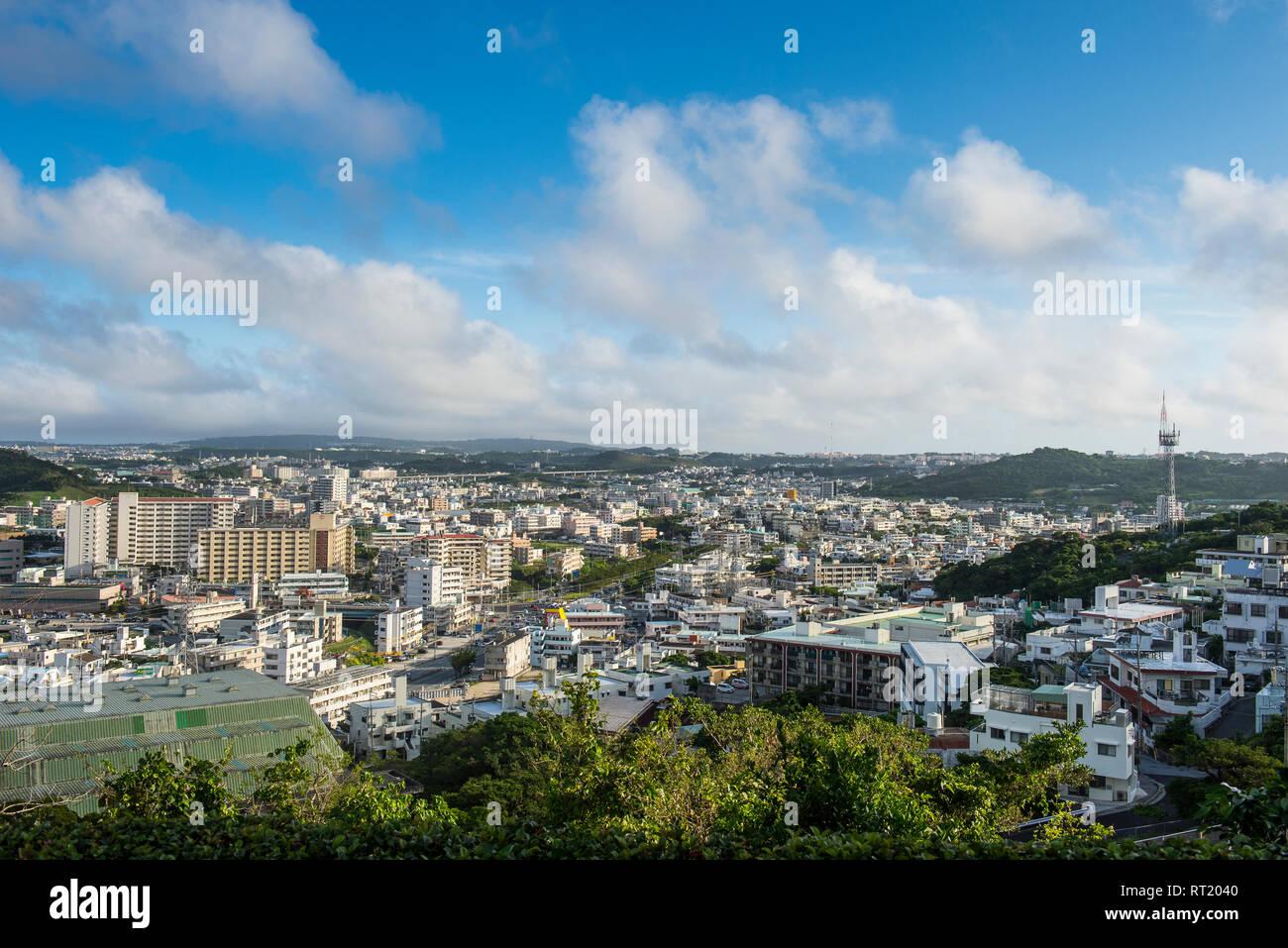 Japan, Okinawa, View over Naha Stock Photo