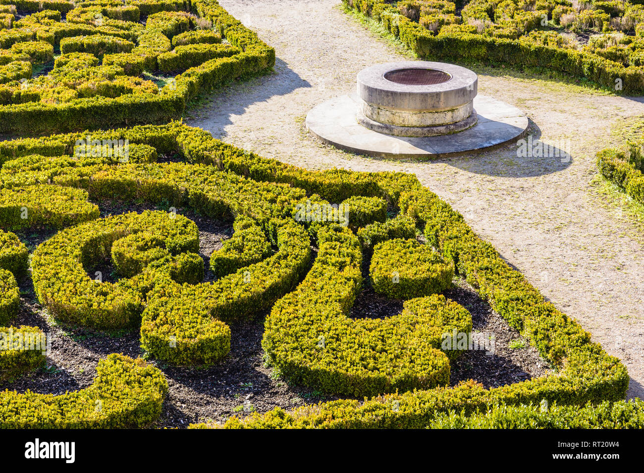 The Parterre De Broderie In The French Formal Garden Of The ...