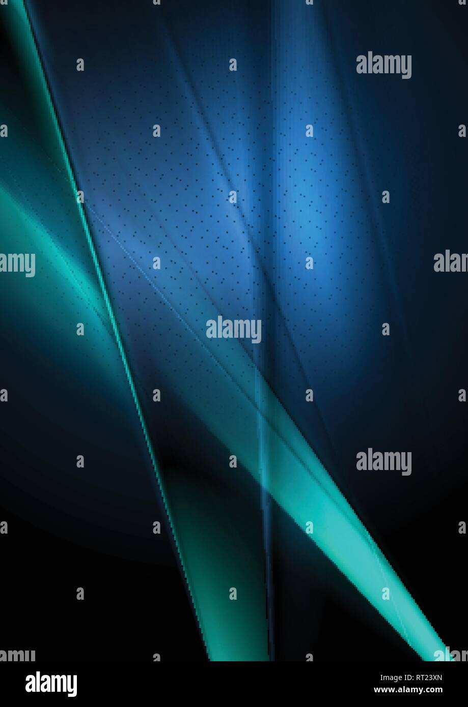 Dark deep blue abstract shiny blurred background. Vector design - Stock Vector