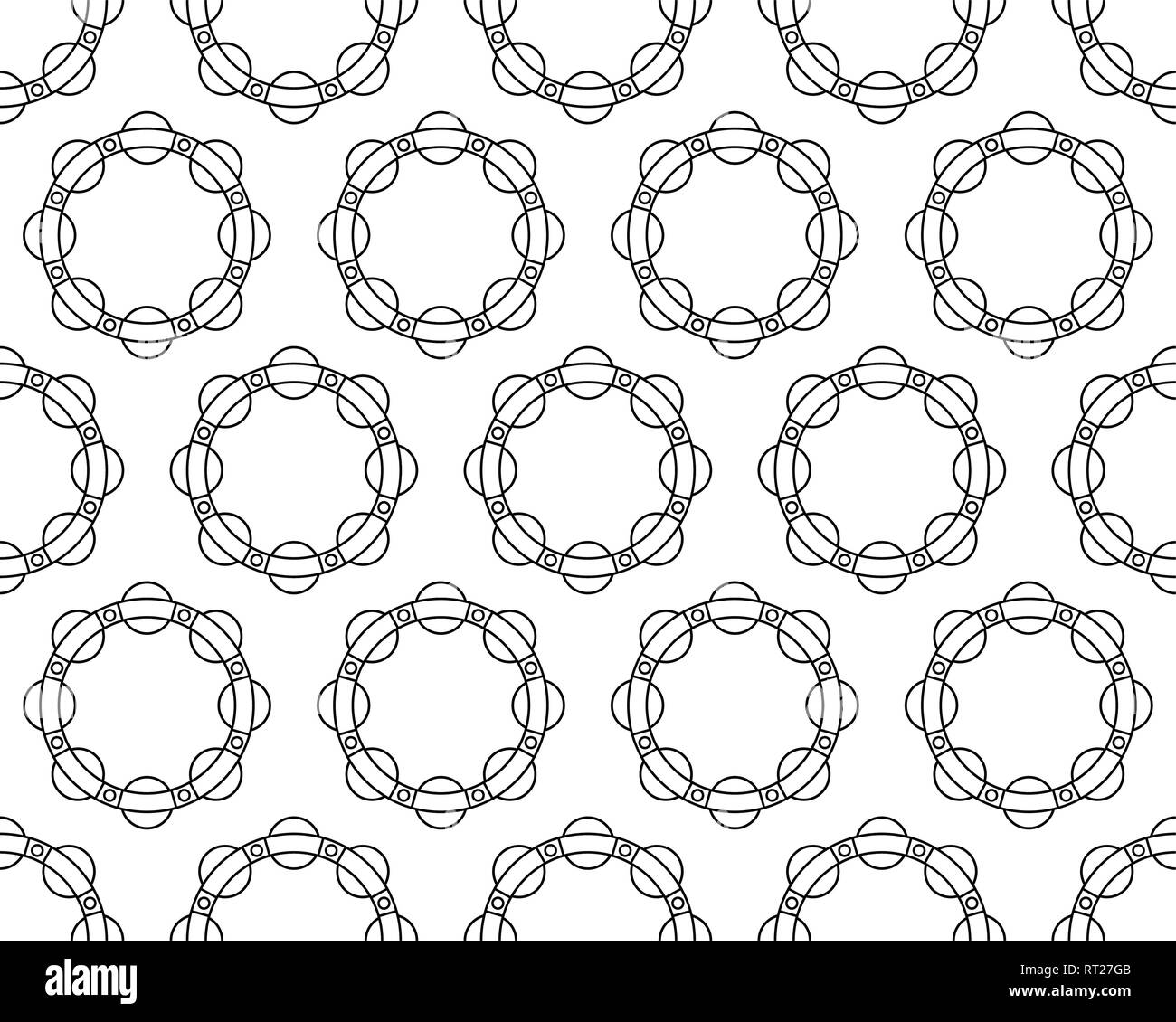 Seamless pattern of the contour ball bearing races - Stock Image