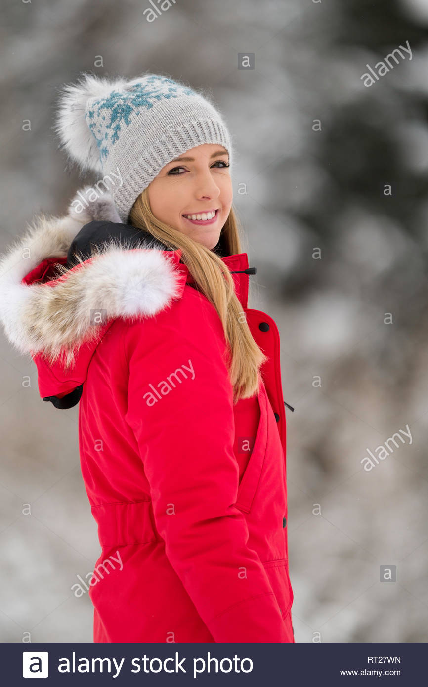 6144988dd Red Parka Stock Photos   Red Parka Stock Images - Alamy