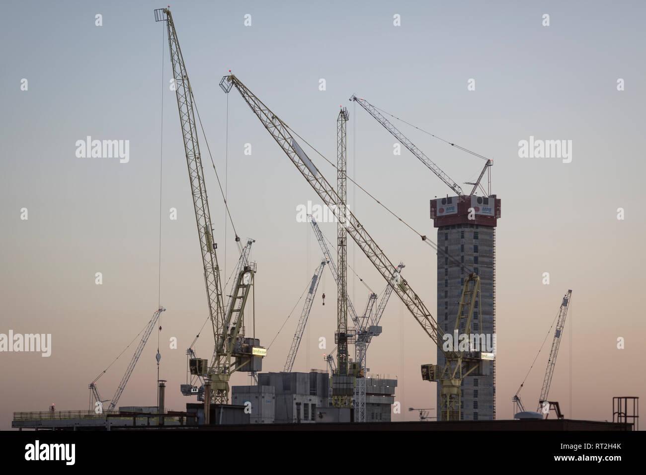 Manchester City Centre Skyline - Stock Image