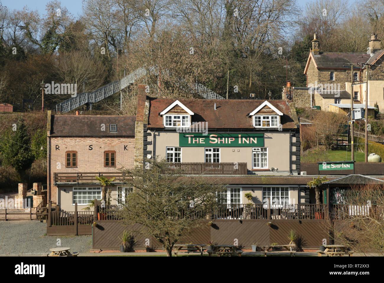 The Ship inn, Highley, Bridgnorth, Shropshire, England, UK. - Stock Image