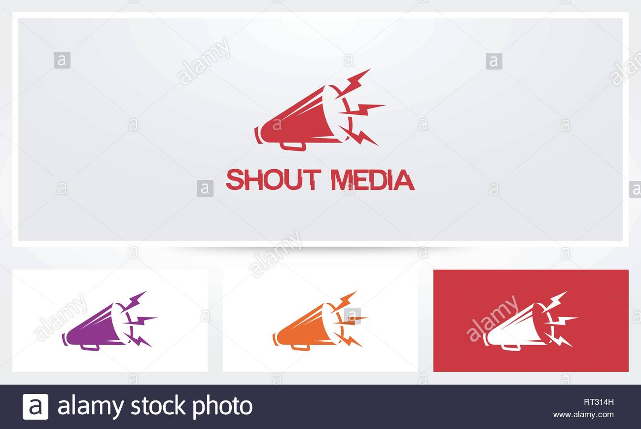 Megaphone Loud Logo - Stock Vector