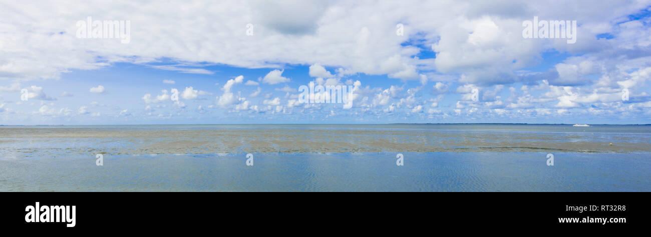Wadden Sea (Waddenzee), The Netherlands. Stock Photo