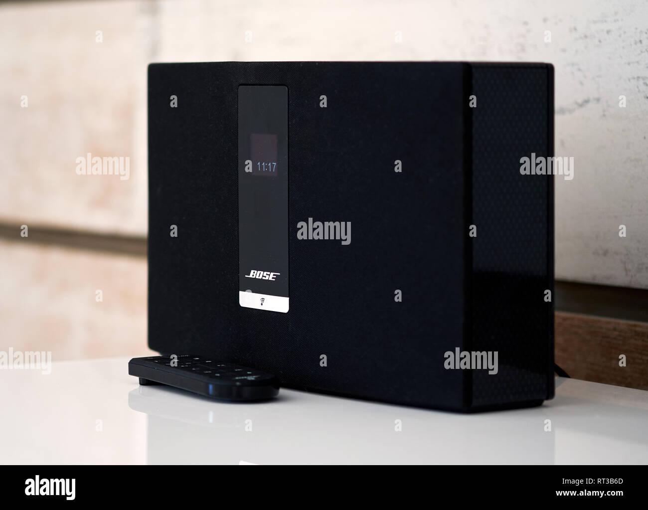 Alicante, Spain - January 27, 2018: Bose brand Bluetooth