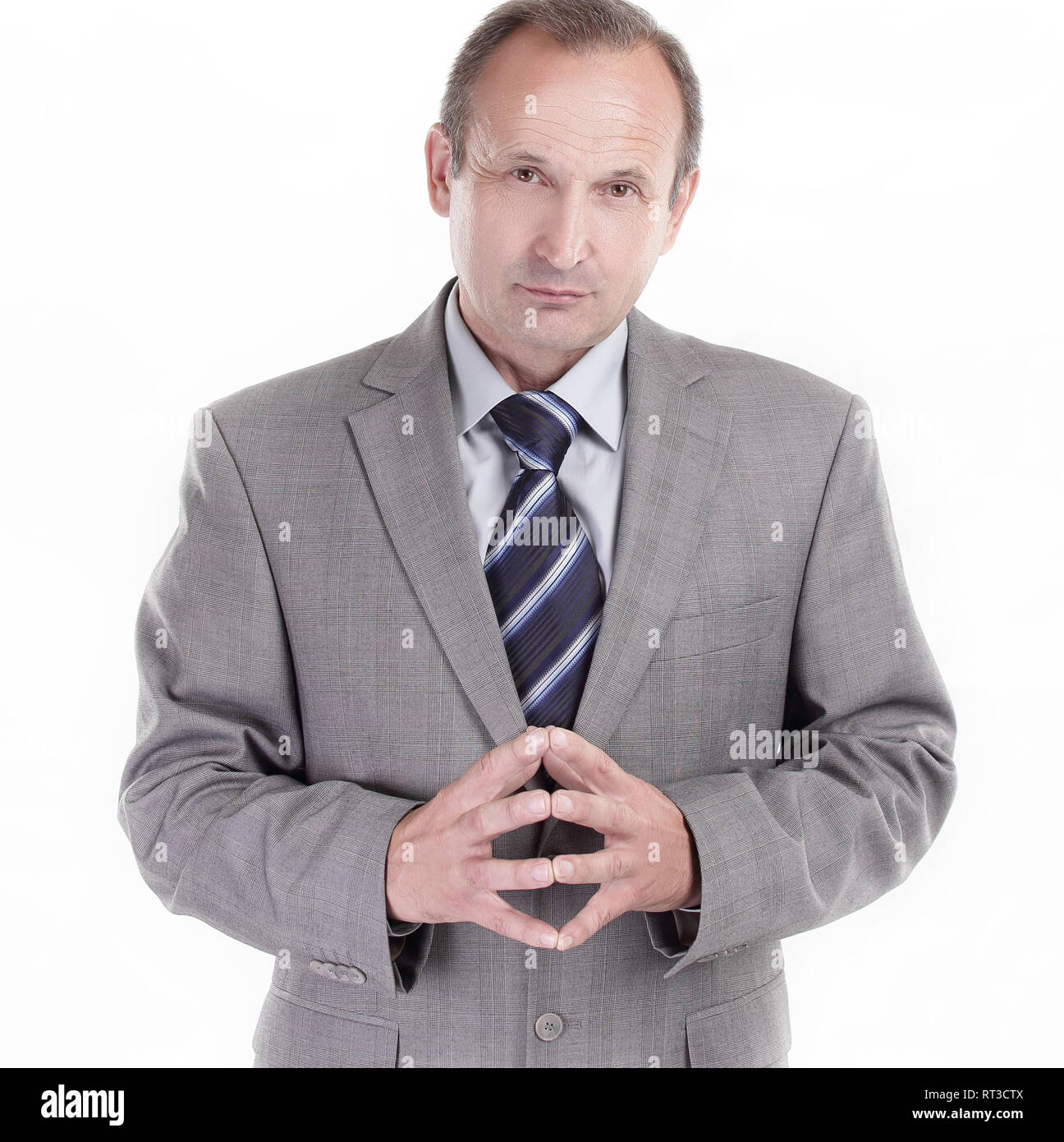 responsible businessman on a white background. business concept - Stock Image