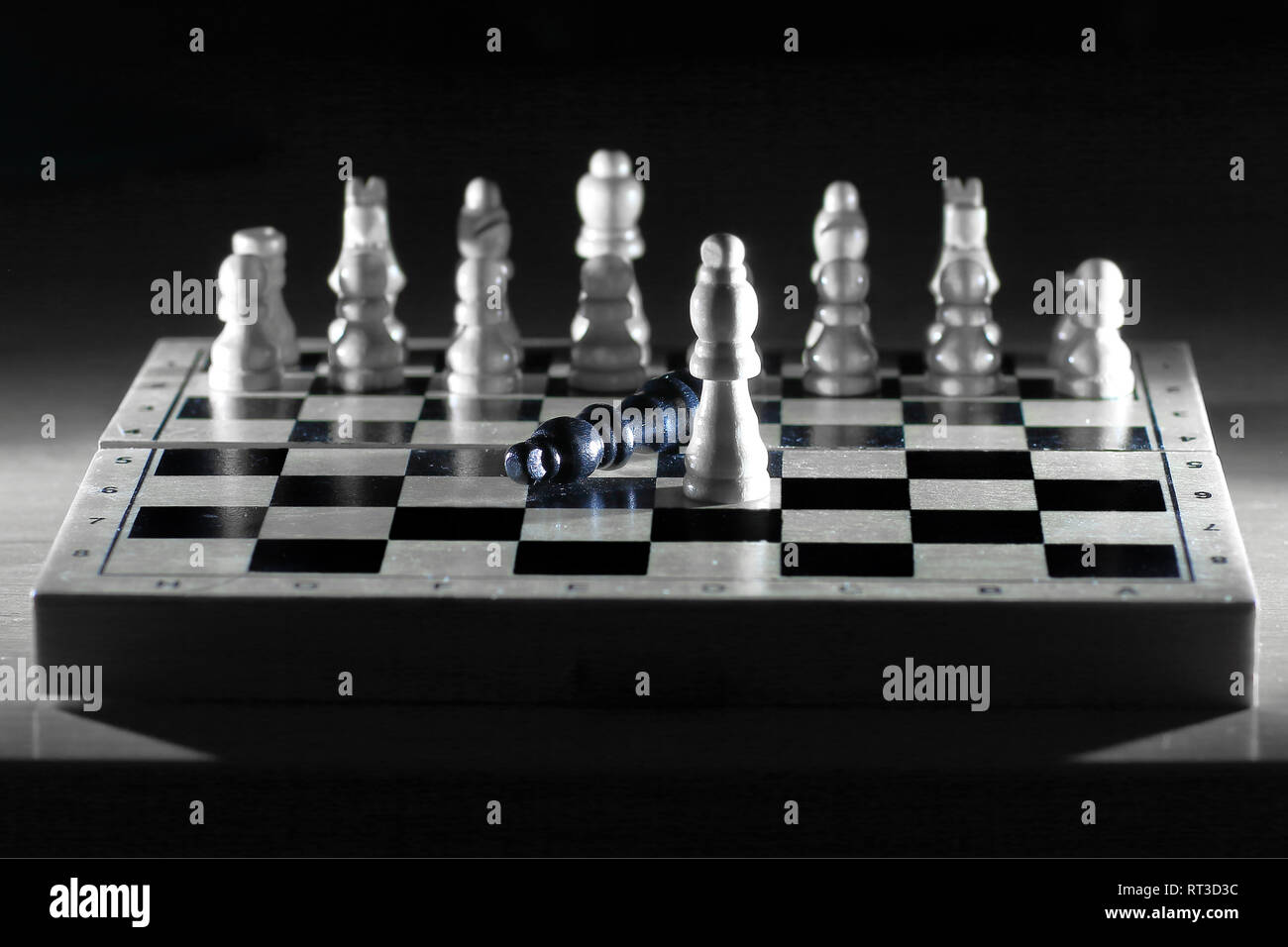 chess composition on the Board.the concept of victory - Stock Image