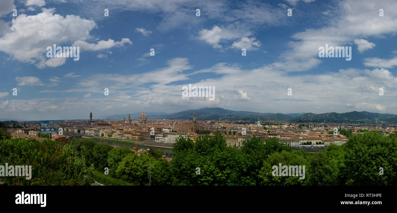 Panoramic cityscape of Florence, Italy. - Stock Image