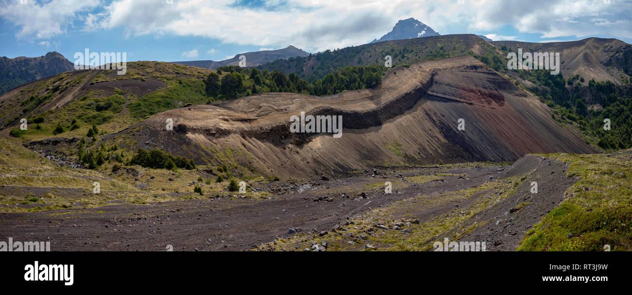 Path of Desolation, Osorno, Chile. - Stock Image