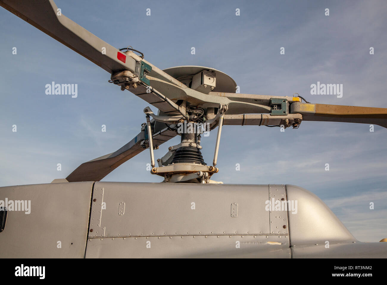 Helicopter rotor blades - Stock Image