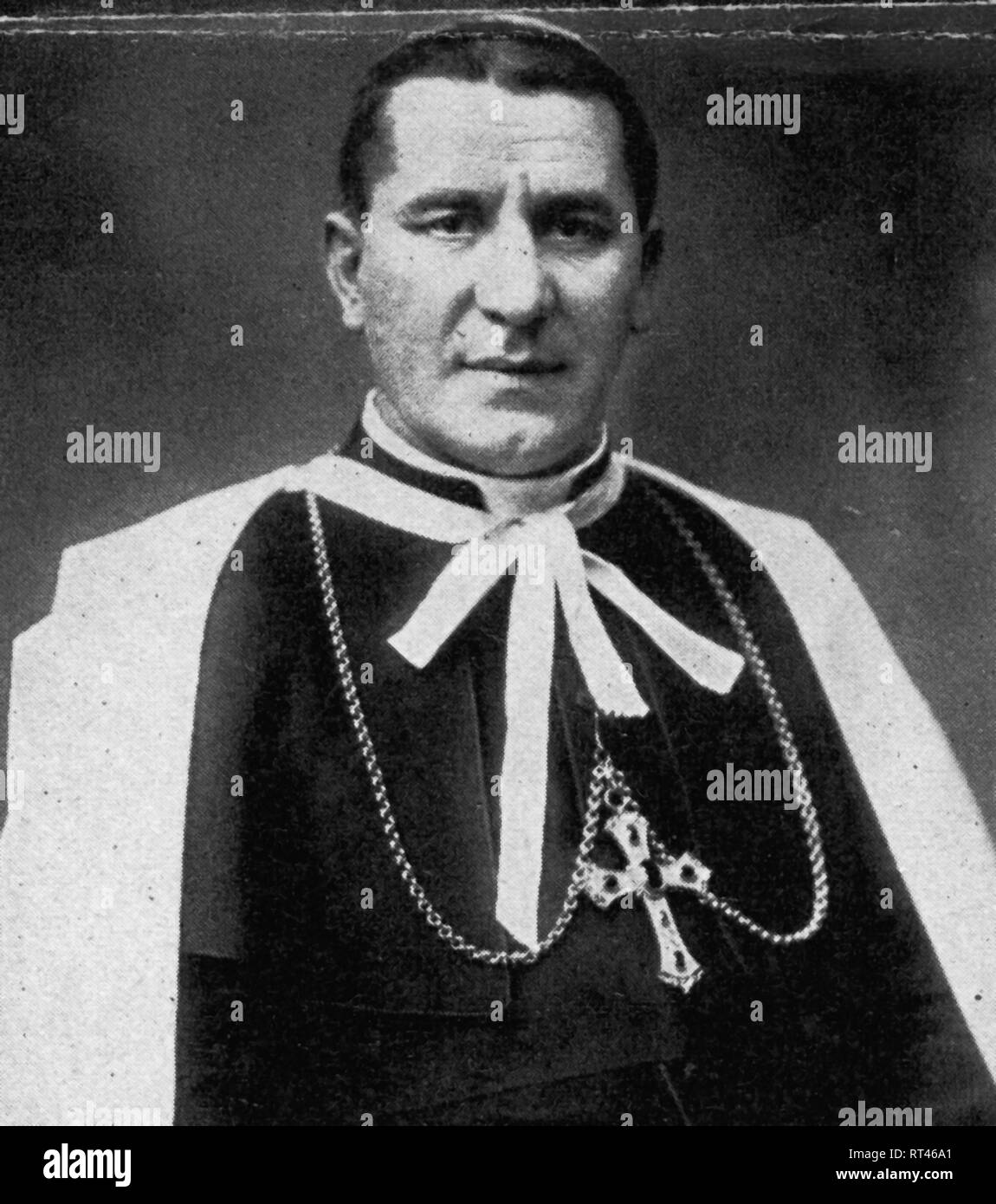 Piazza, Adeodato Giovanni, 30.9.1884 - 30.11.1957, Italian clergyman, archbishop, cardinal, portrait, circa 1937, Additional-Rights-Clearance-Info-Not-Available - Stock Image