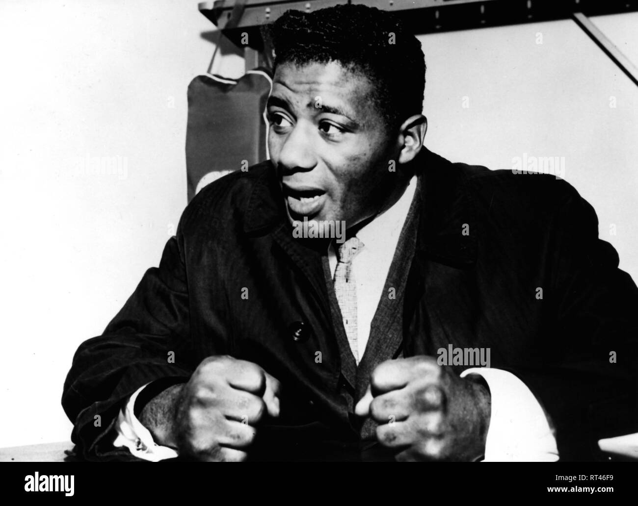 Patterson, Floyd, 4.1.1935 - 11.5.2006, American boxer, World Heavyweight Champion, at a press conference, New York City, 5.4.1962, Additional-Rights-Clearance-Info-Not-Available - Stock Image