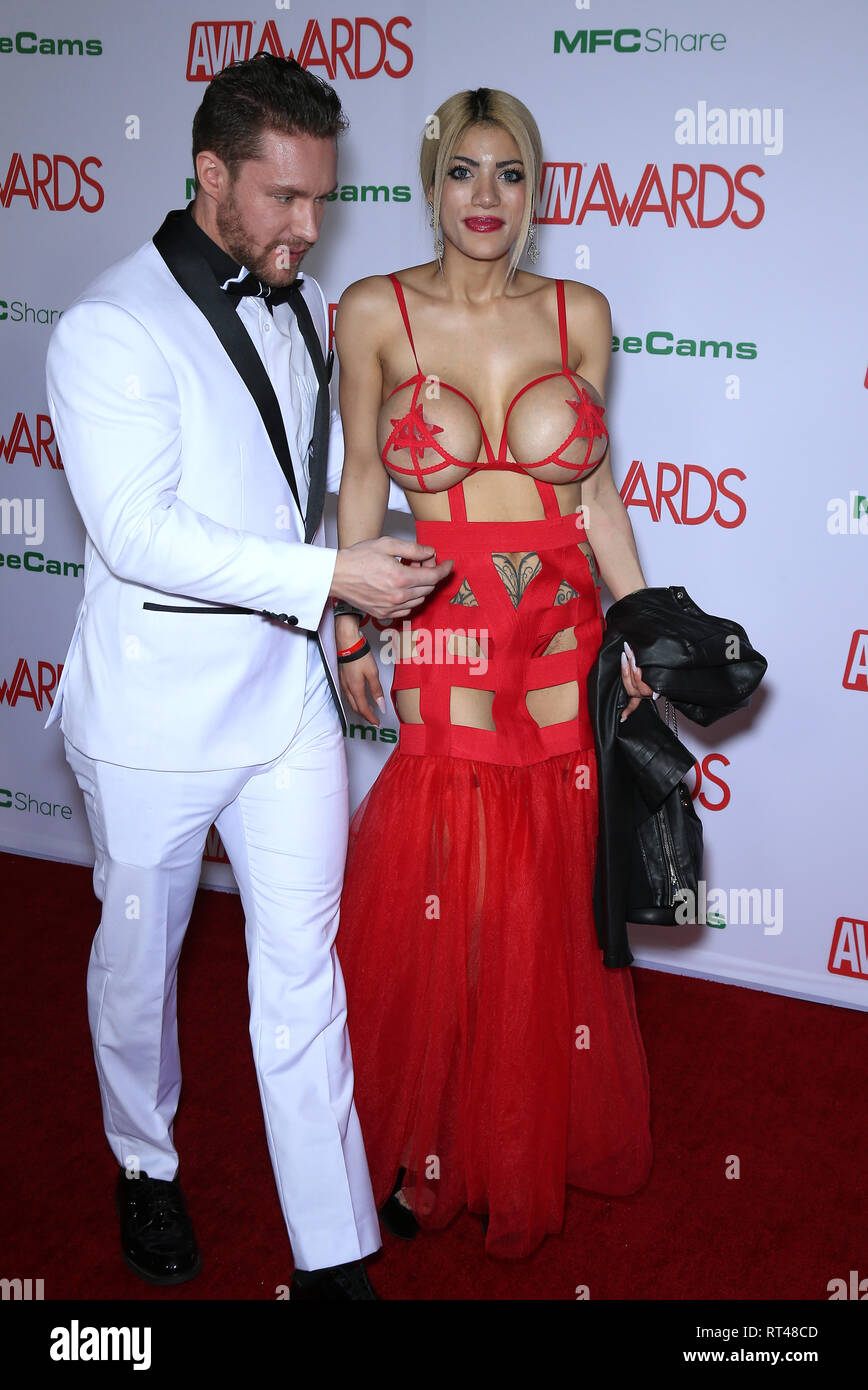 2019 Avn Awards Red Carpet Arrivals At The Joint Inside The Hard Rock Hotel And Casino Featuring Amber Alena Where Las Vegas Nevada United States When