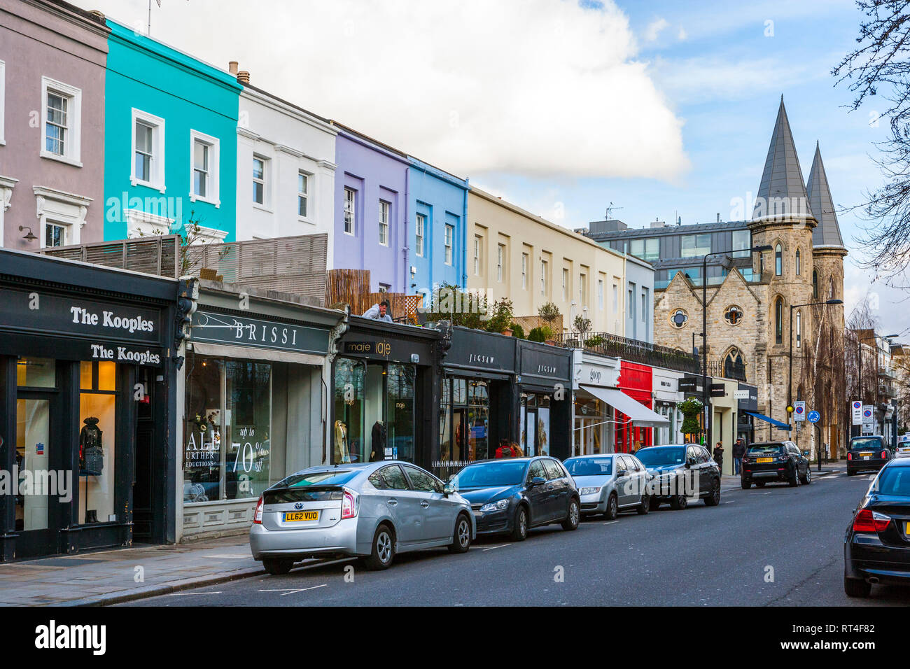 Notting Hill Ladbroke Grove westbourne stock photos & westbourne stock images - alamy