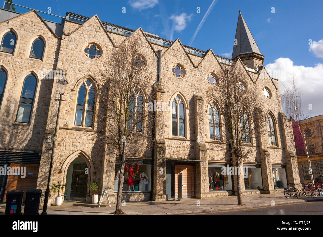 Westbourne Grove Church Retail Units, Ledbury Road, Notting Hill, London - Stock Image