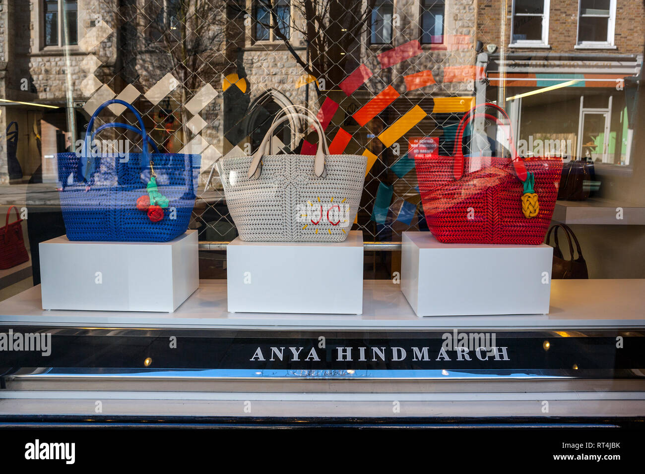 Anya Hindmarch, leather goods store, Notting Hill London - Stock Image