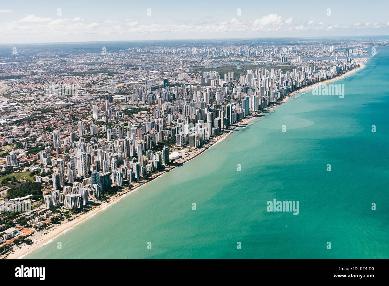 Aerial view of Recife, Brazil - Stock Image