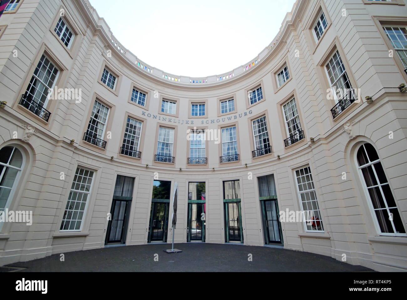 Royal theater named koninklijke schouwburg in the city center of The Hague - Stock Image