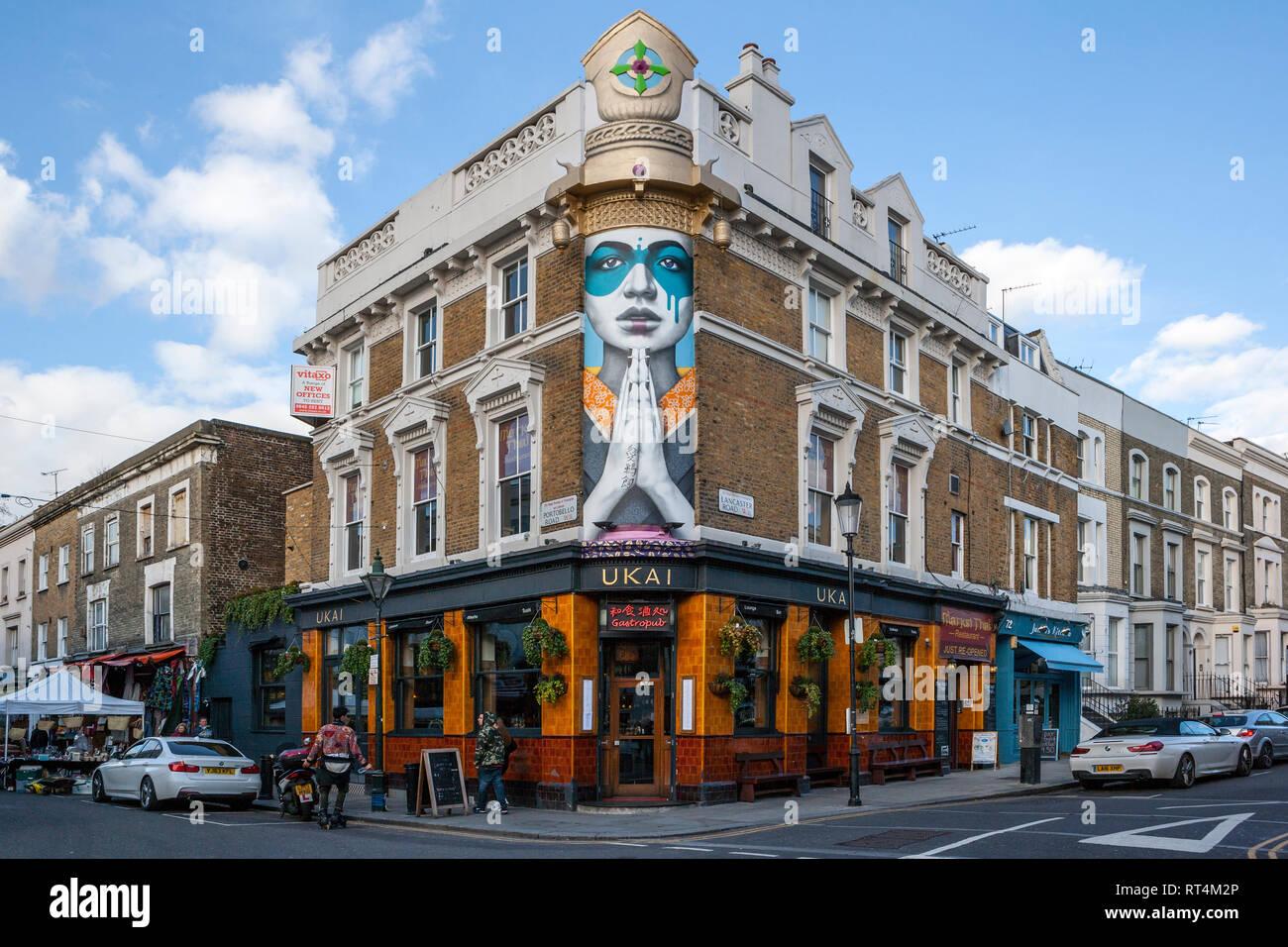 Ukai, Notting Hill, London - Stock Image