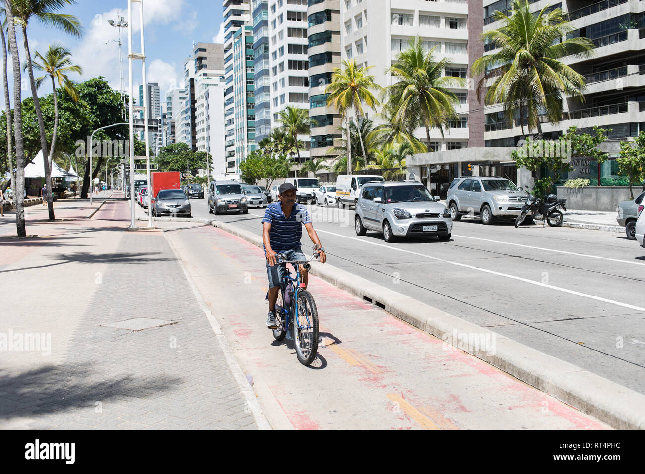 Recife, a beautiful Beach Town  in the North of Brazil - Stock Image