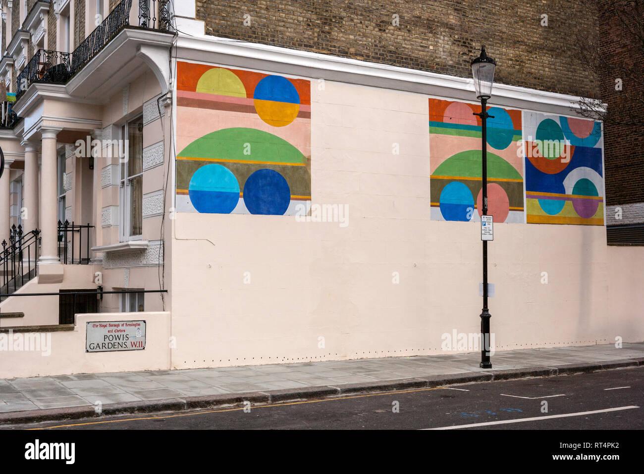 Murals, Notting Hill, London - Stock Image