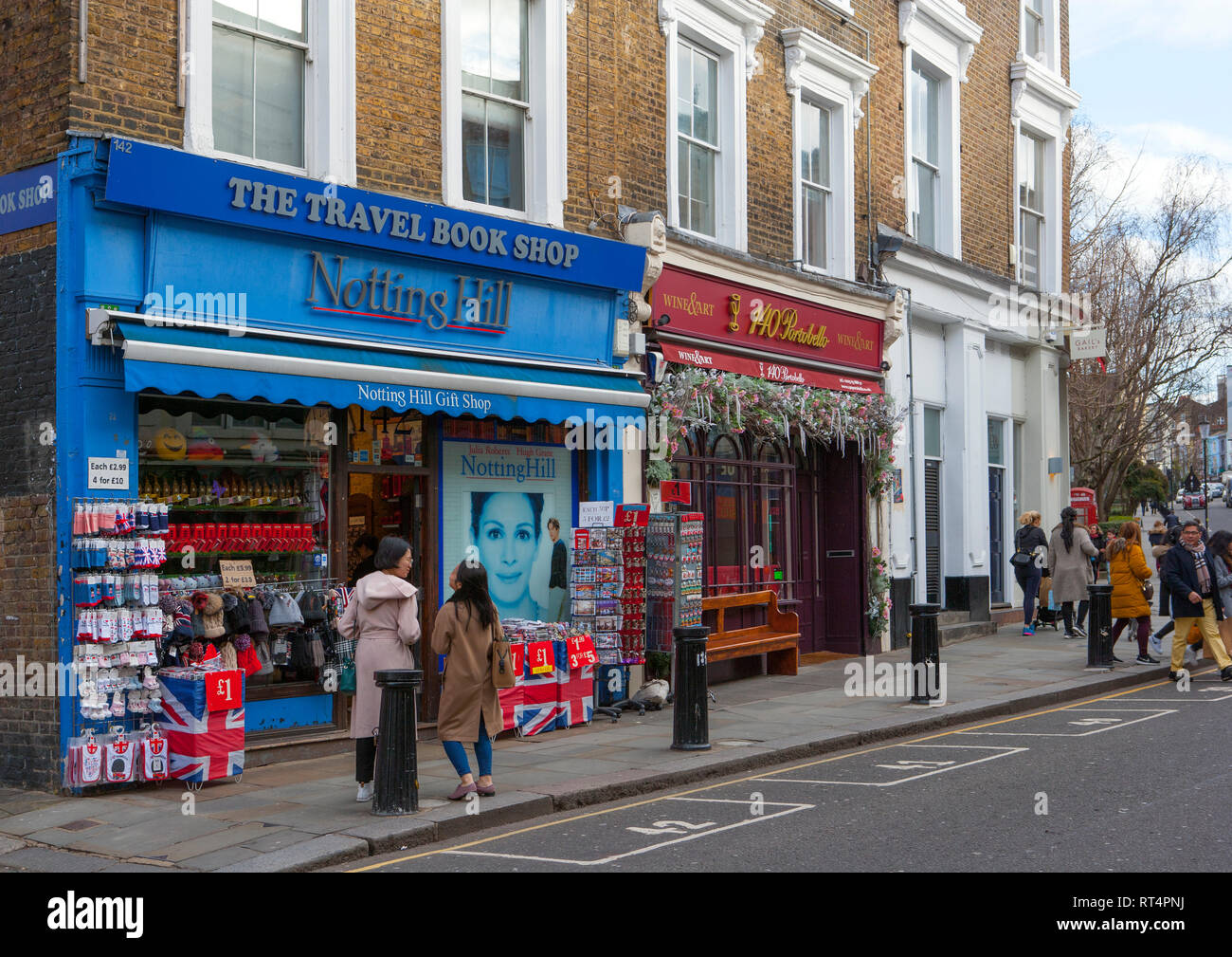 The Travel Book Shop, Portobello Road, Notting Hill, London;  location for the film 'Notting Hill' - Stock Image