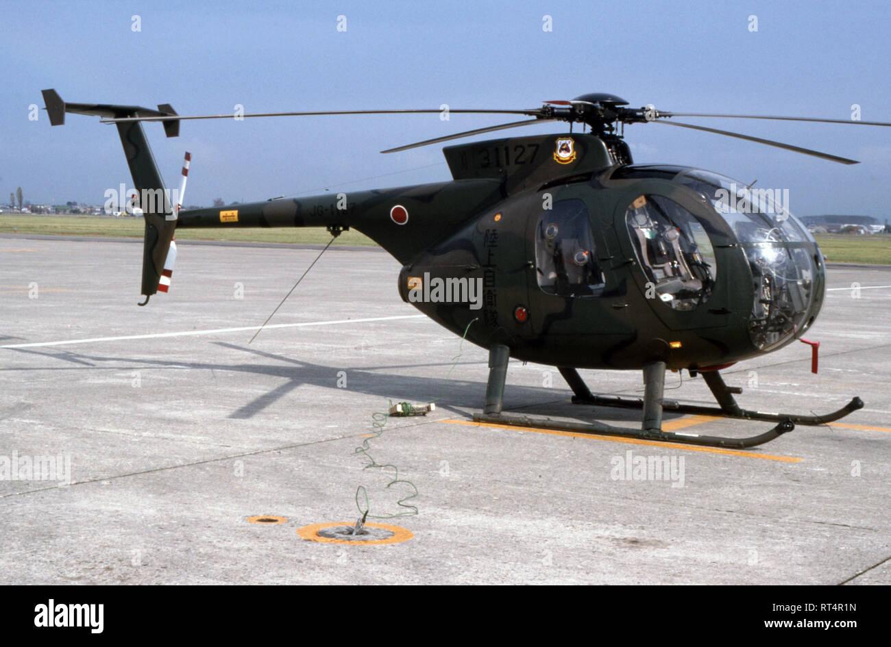 Japanisches Heer JGSDF Kawasaki OH-6D - Stock Image