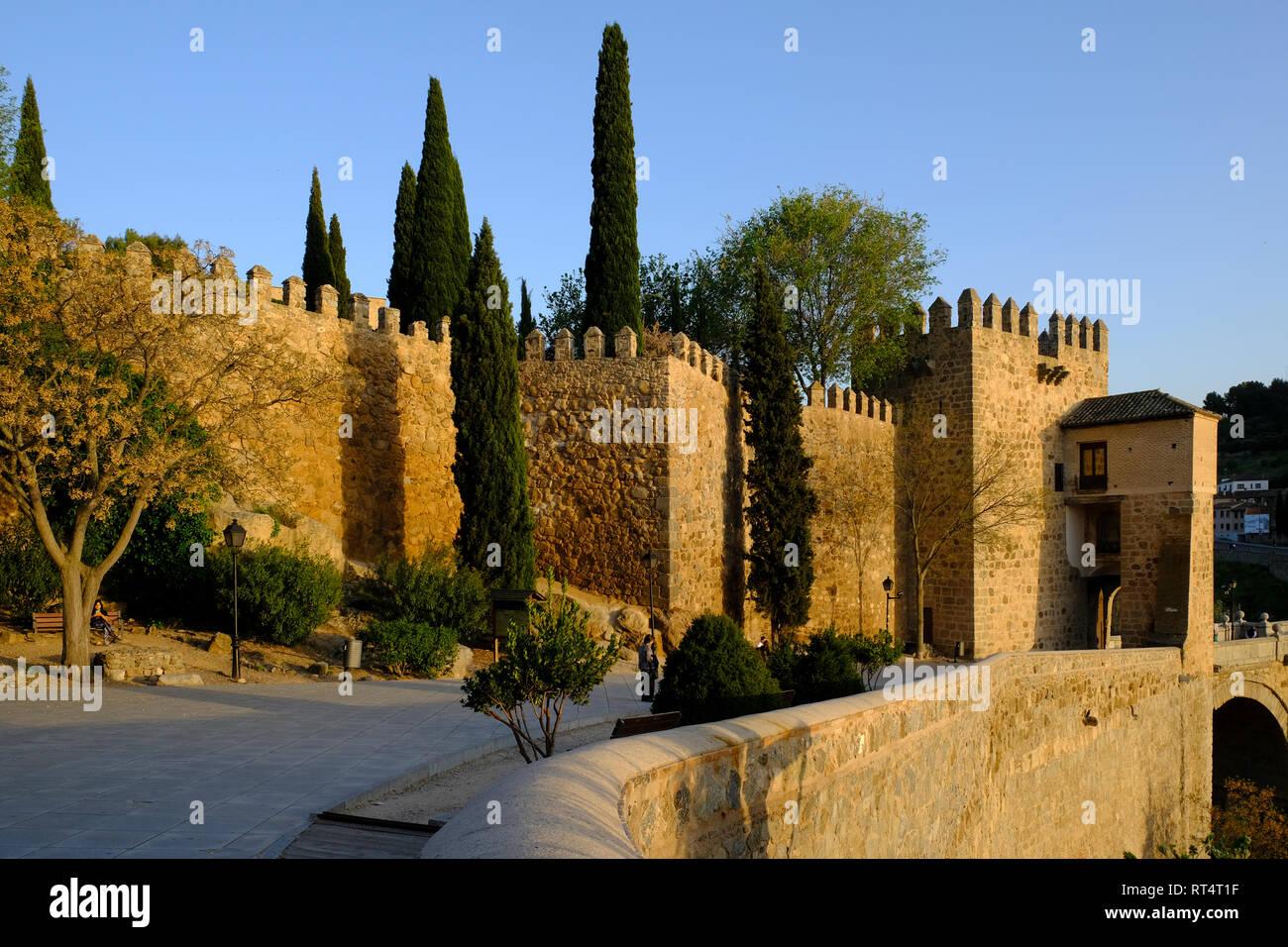 town wall, Toledo, Castilla la Mancha, Spain Stock Photo