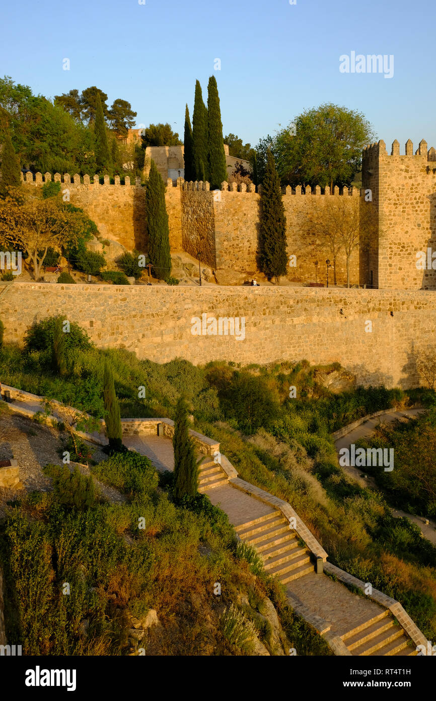 town wall, Toledo, Castilla la Mancha, Spain Stock Photo