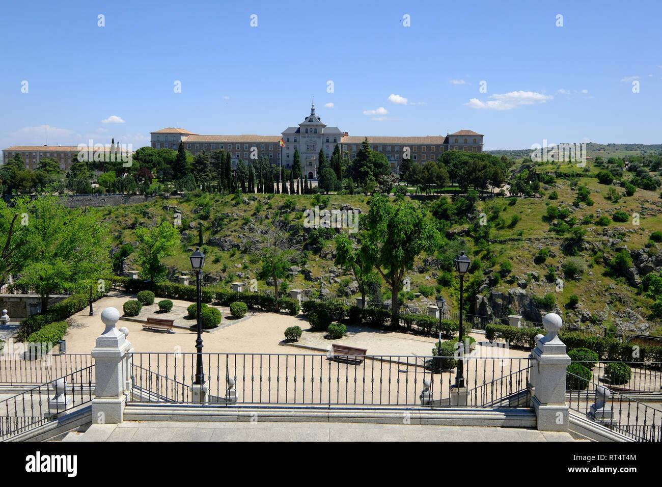 The Alcazar of Toledo Spanish Army Museum, Toledo, Castilla la Mancha, Spain Stock Photo