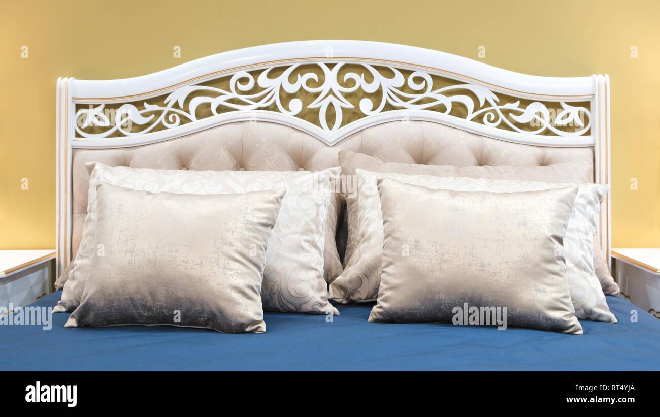 Classic Interior Design Bedroom White Pink Blue Yellow ...