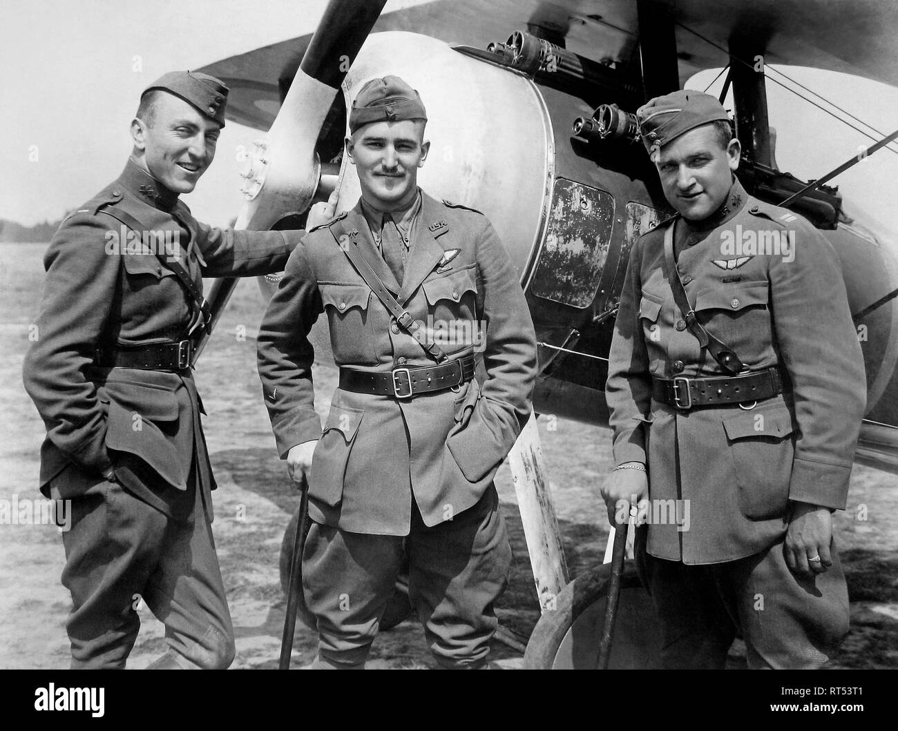 Notable aviators of the 94th aero suadron during World War II. - Stock Image