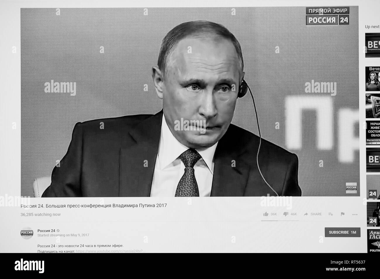 Putin Black And White Stock Photos Images Alamy