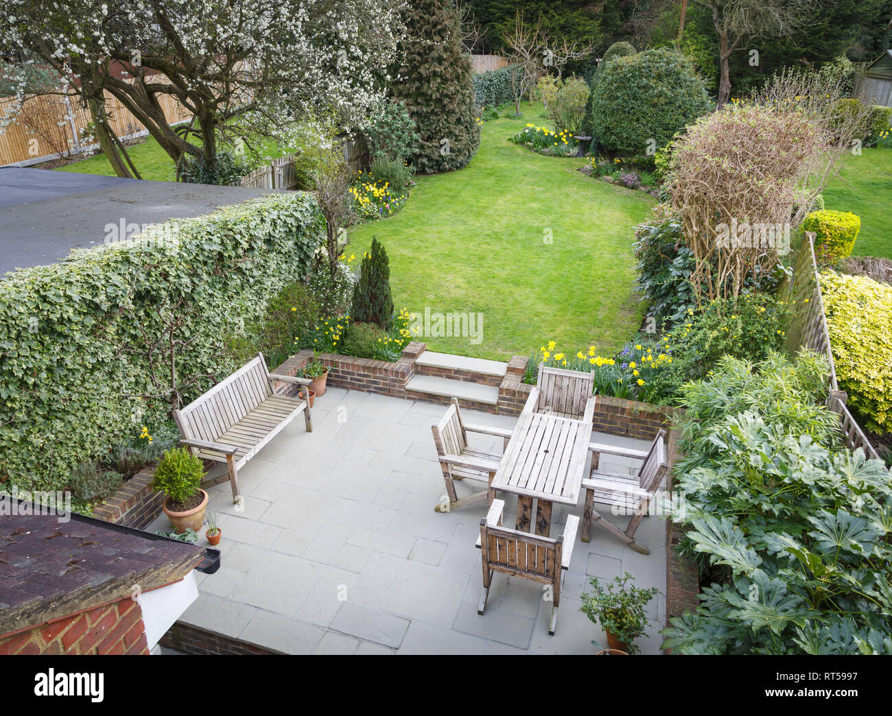 Backyard Back Garden Suburban High Resolution Stock Photography