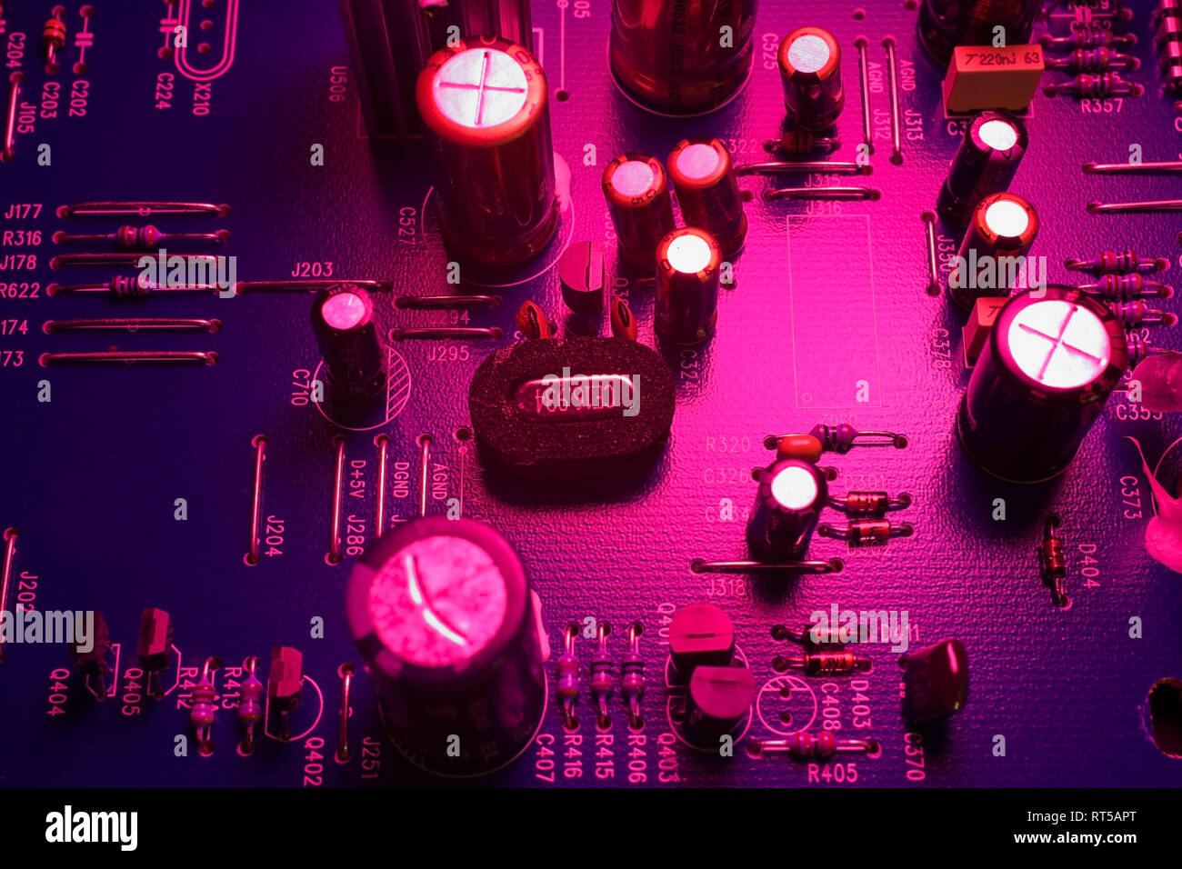 Computer circuit board, Studio Composition. - Stock Image