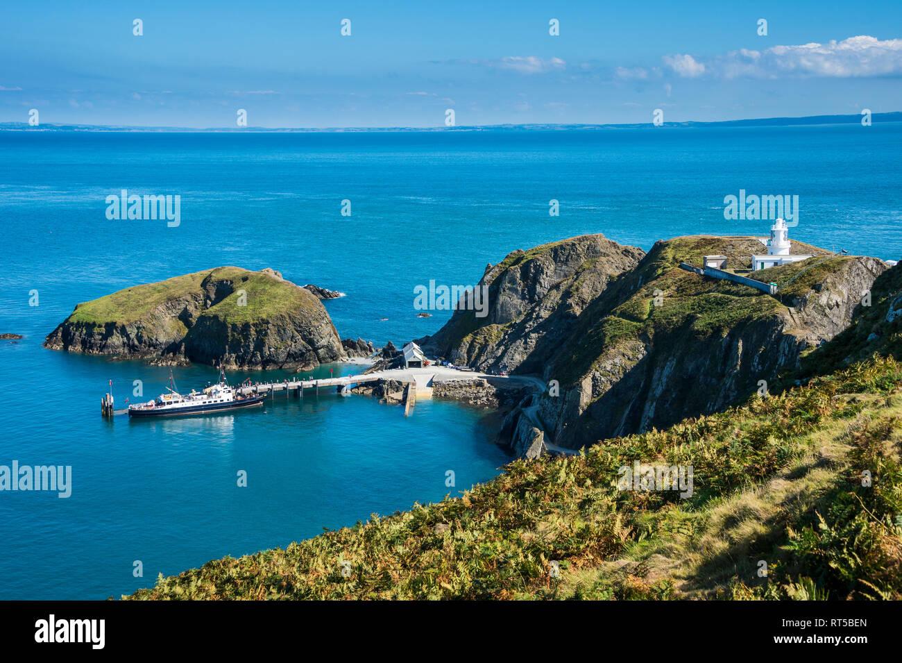 United Kingdom, England, Devon, Island of Lundy, Bristol channel, Harbour Stock Photo