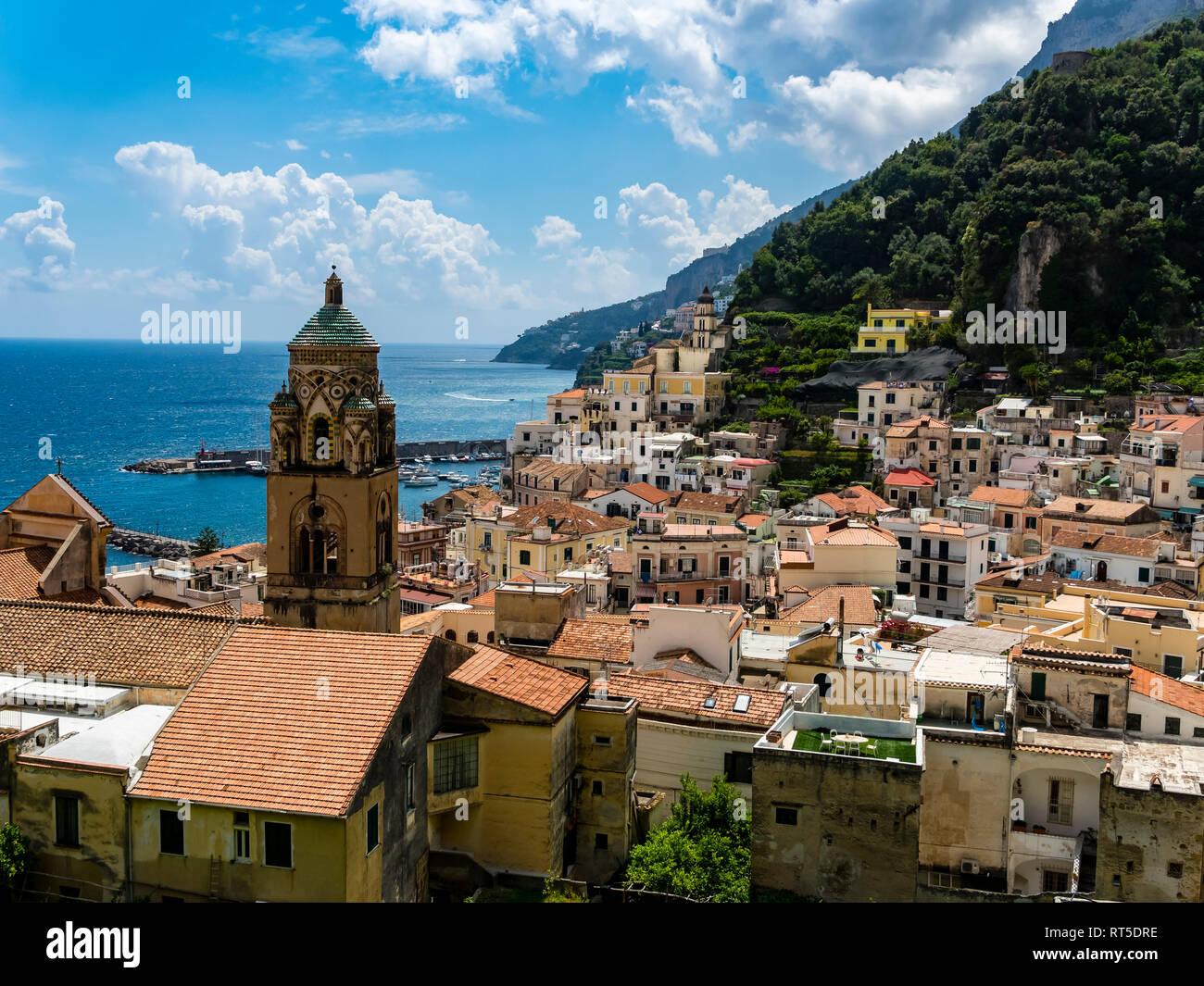Italy, Campania, Amalfi Coast, Sorrento Peninsula, Amalfi, Cathedral of Sant'Andrea Stock Photo