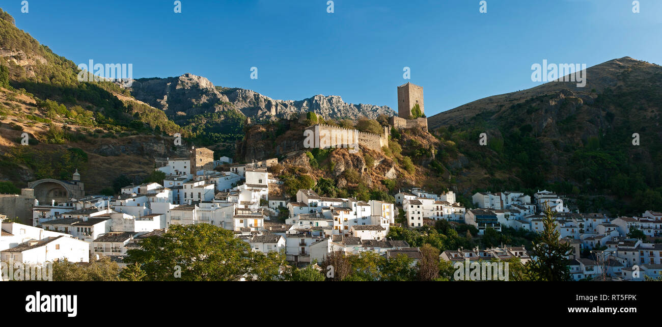 Panoramic view with La Yedra Castle. Cazorla. Jaen province. Region of Andalusia. Spain. Europe - Stock Image