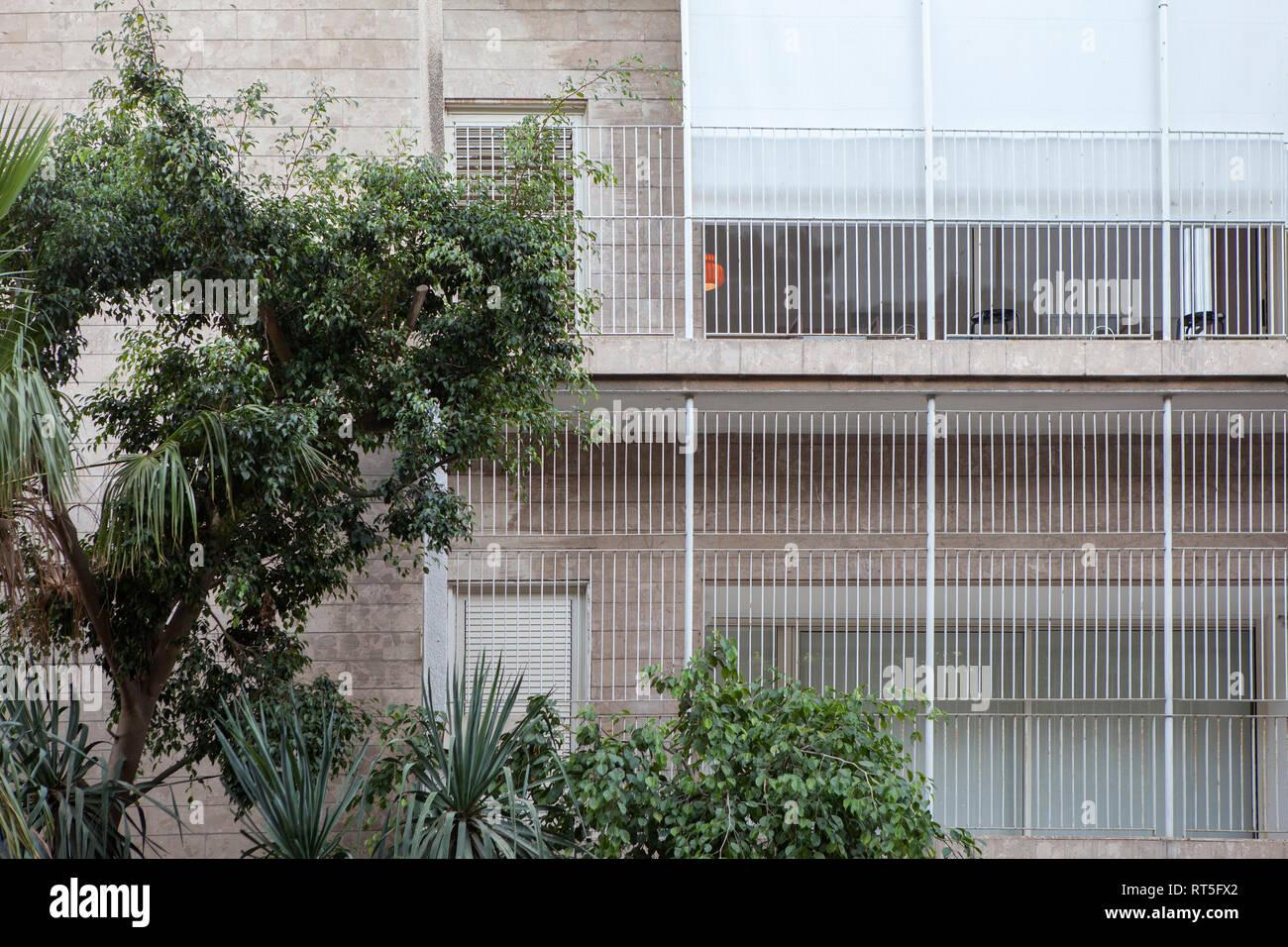 Israel, Tel Aviv, Rothschild Boulevard, White City, International Style - Stock Image