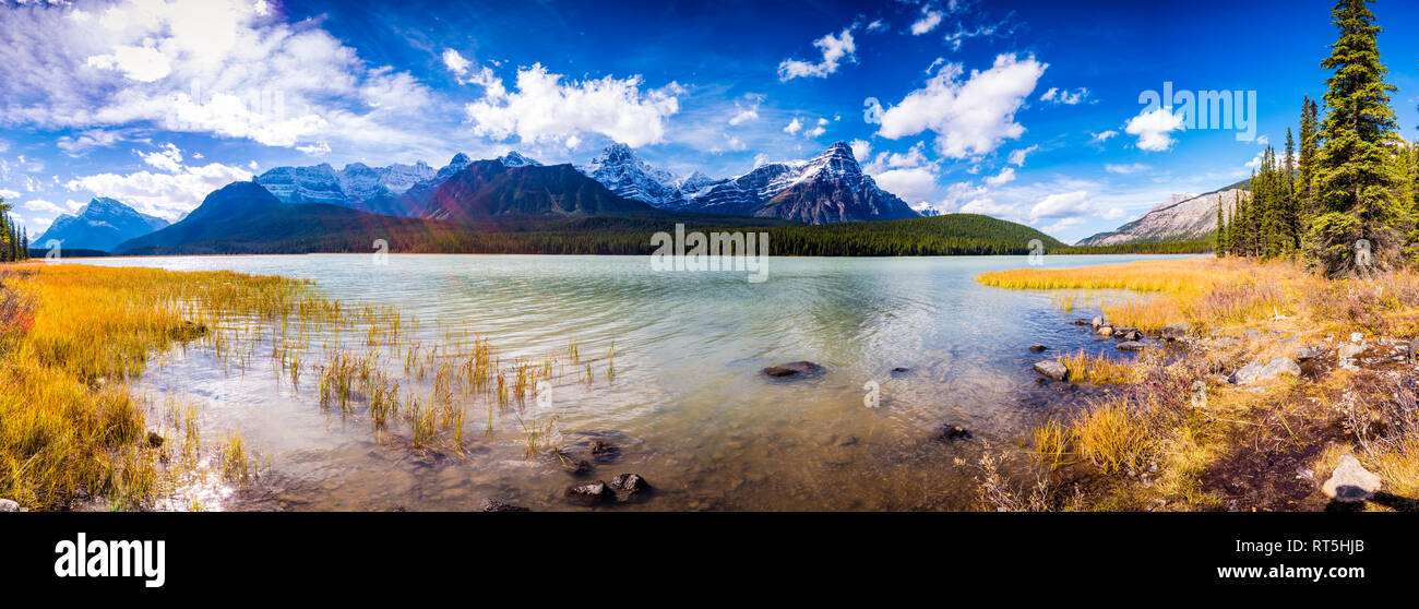 Waterfowl Lakes, Icefields Parkway, Improvement District No. 9, Alberta,  Canada - Stock Image