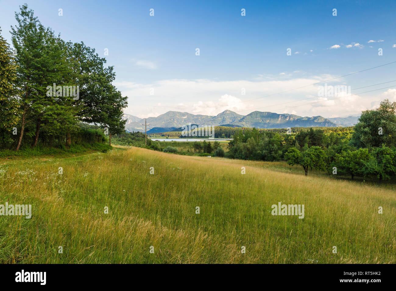 Austria, Carinthia, Lake Turner, View to Slovenia - Stock Image