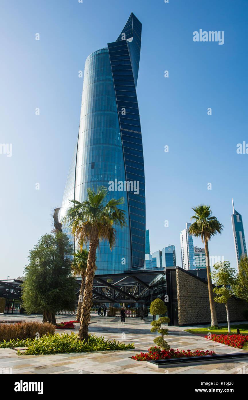 Arabia, Kuwait, Kuwait city, Al Shaheed Park and Al Hamra Tower