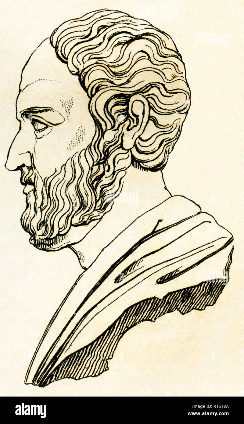 Greece, Isocrates, ancient Greek rhetorician, Attic orator, 436-338 BC., Artist's Copyright has not to be cleared - Stock Image