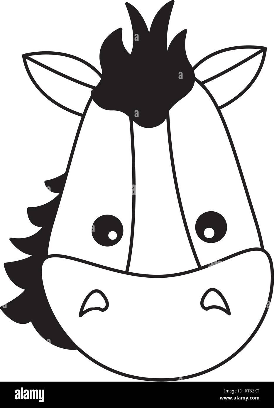 horse face animal - Stock Vector