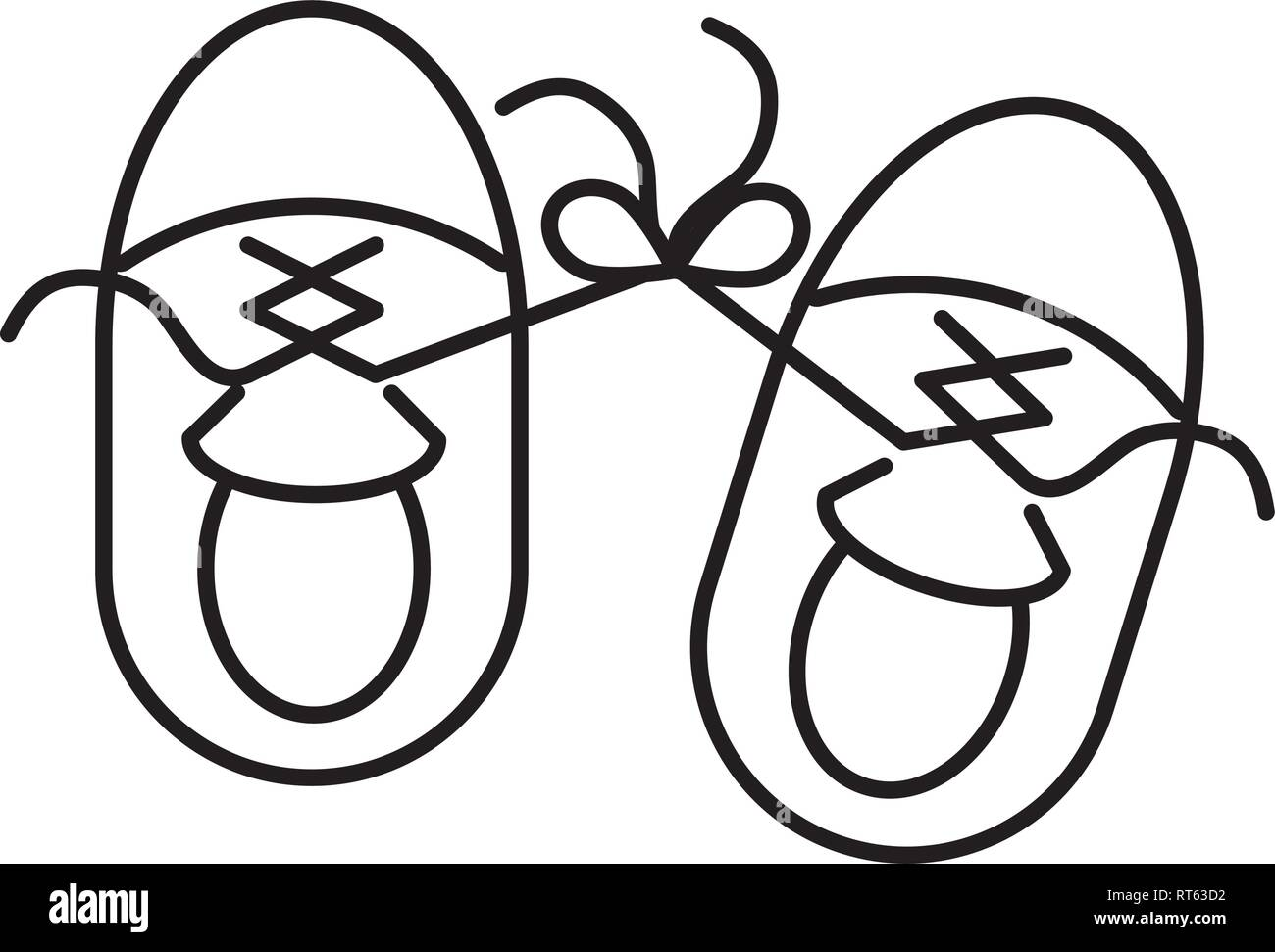 sneakers laces tied - Stock Vector