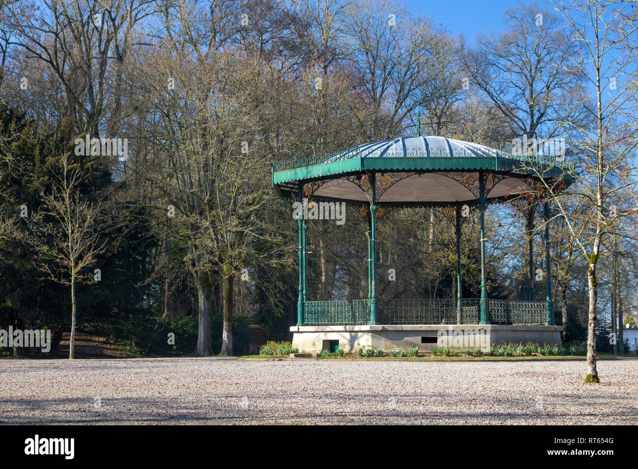 Bandstand in Public Gardens, Saint Omer, France - Stock Image