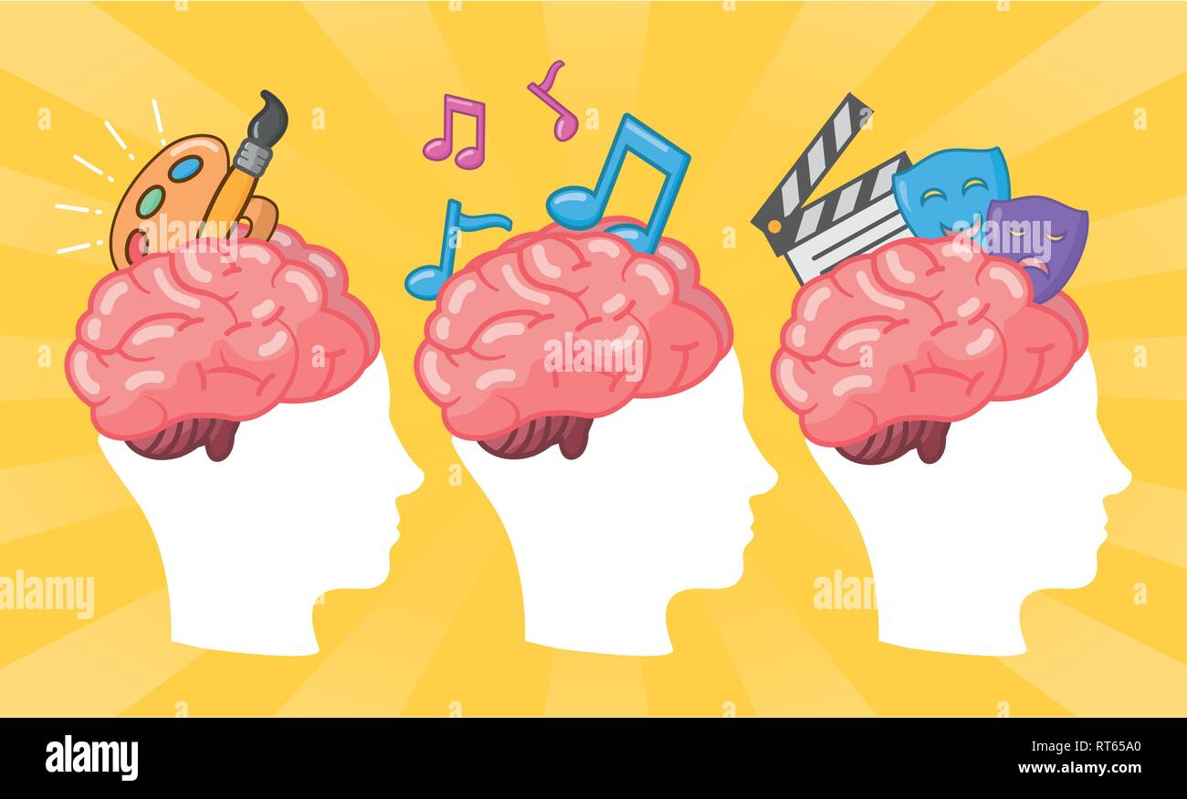 brain idea creativity - Stock Image